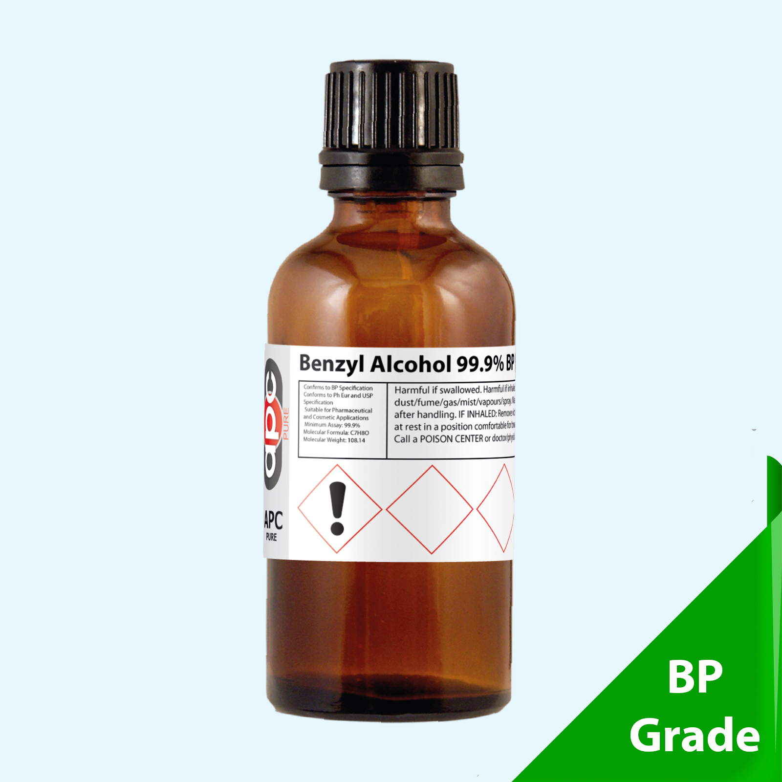 50ml Benzyl Alcohol 99.5% ACS 50ml Food/Pharmaceutical ...