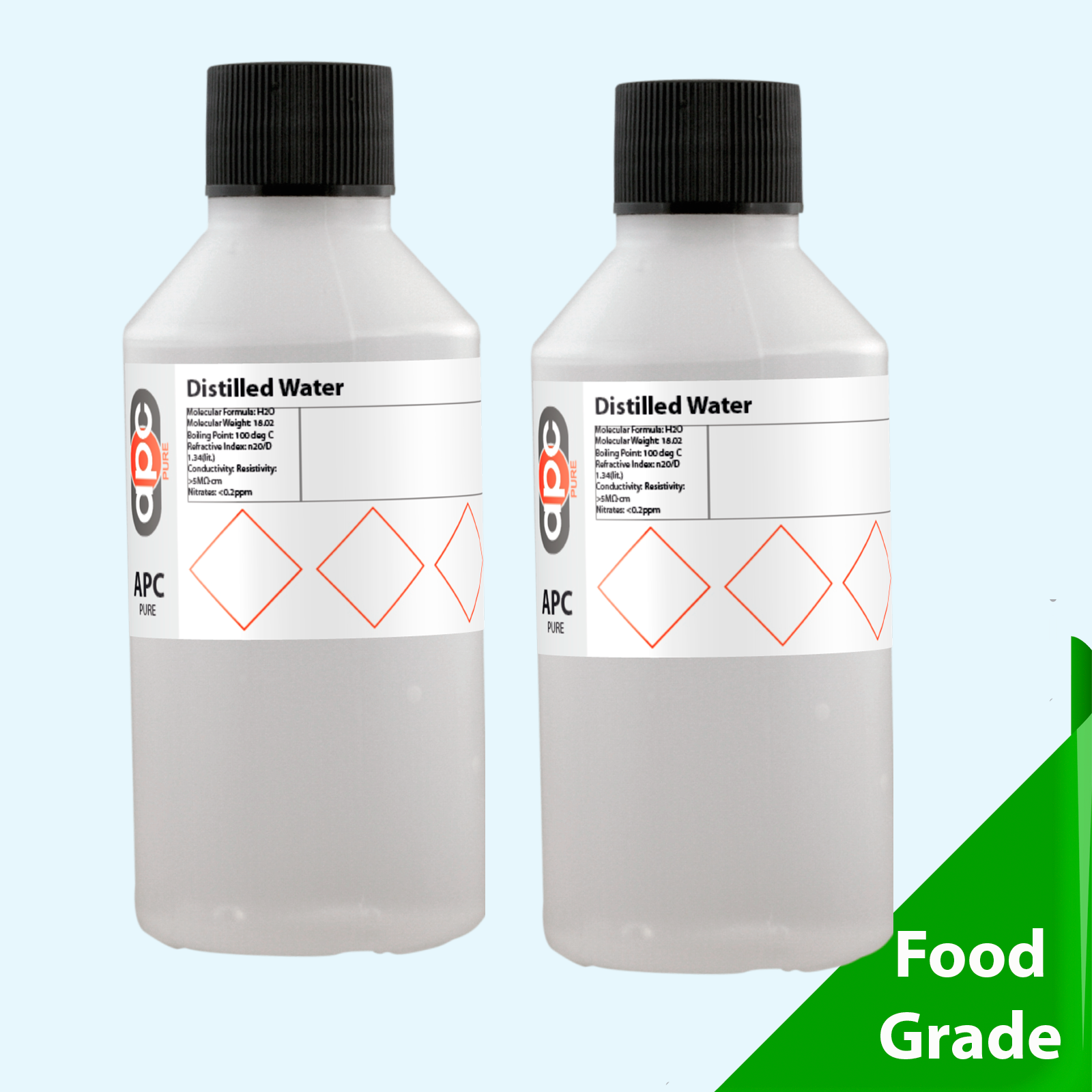200ml 2x100ml distilled water ultra pure for Hydrogen peroxide on tattoo