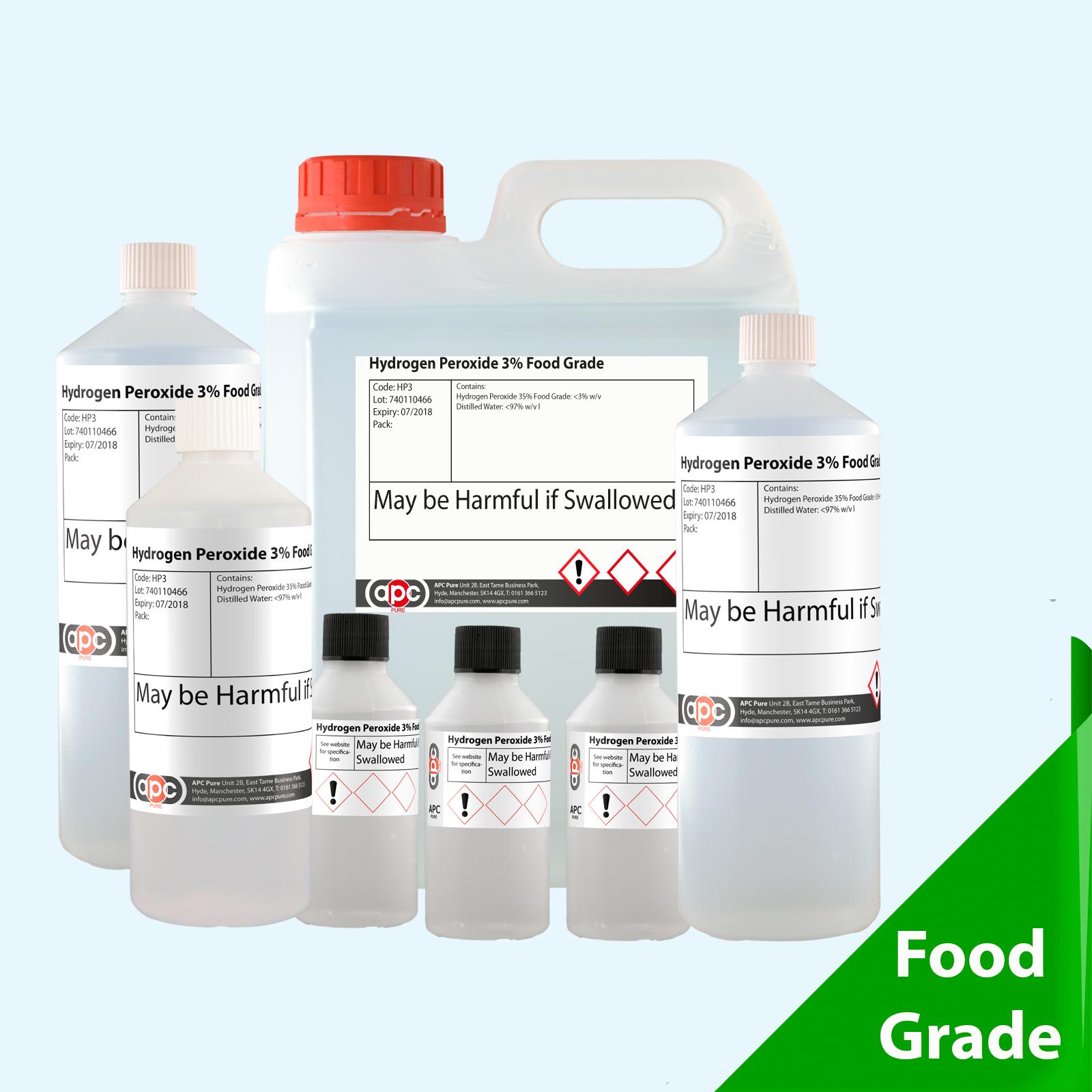Hydrogen peroxide 3 food grade choose pack size 50ml 2 for Hydrogen peroxide on tattoo
