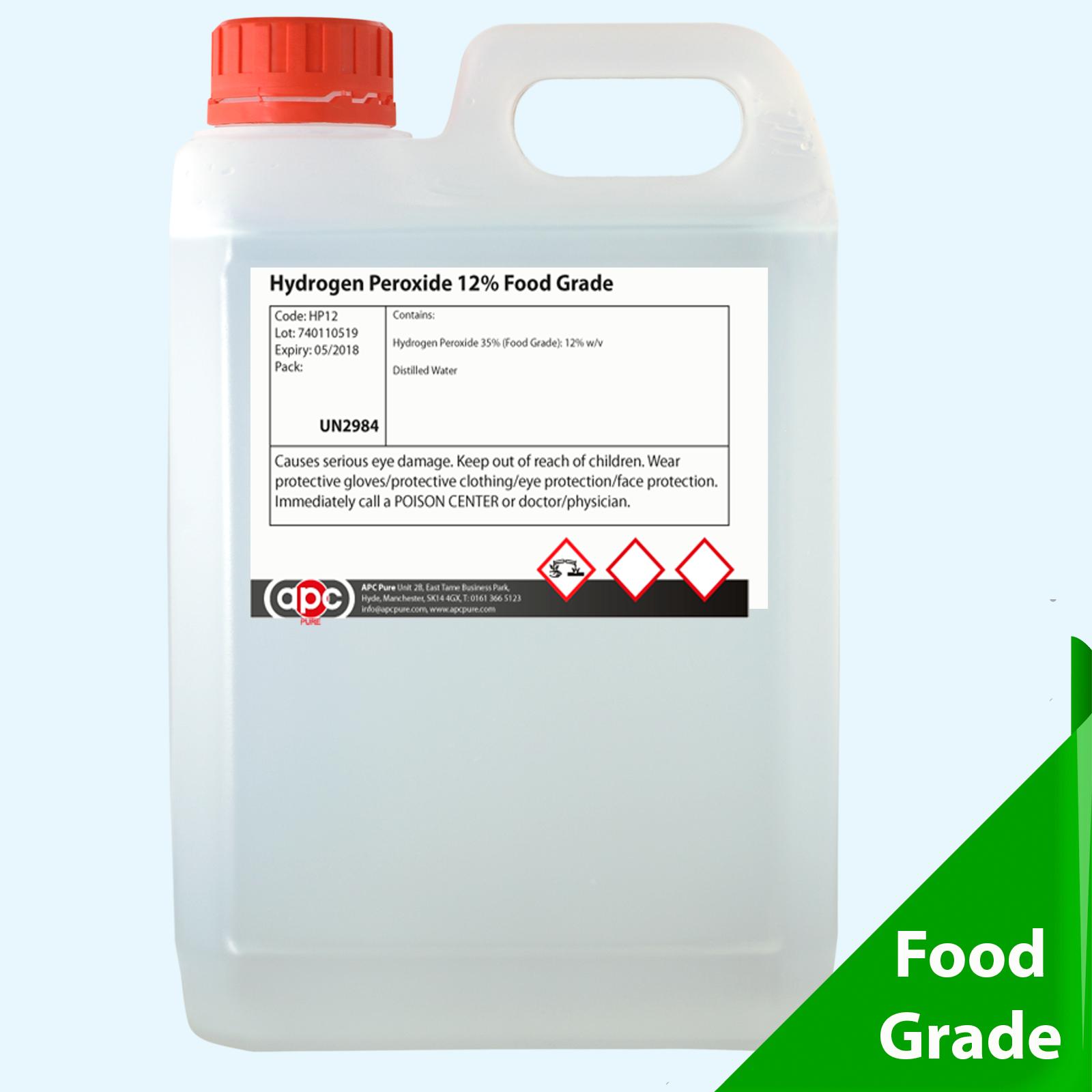 Food grade hydrogen peroxide 9 30 vols 5 litre 5l for Hydrogen peroxide on tattoo