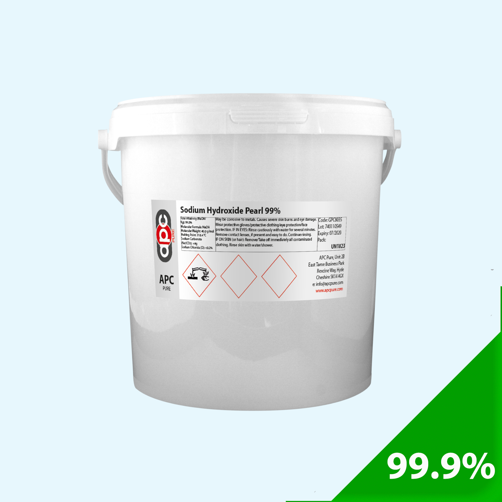 Sodium Hydroxide 99% Pearl 5Kg * Next Working Day Delivery