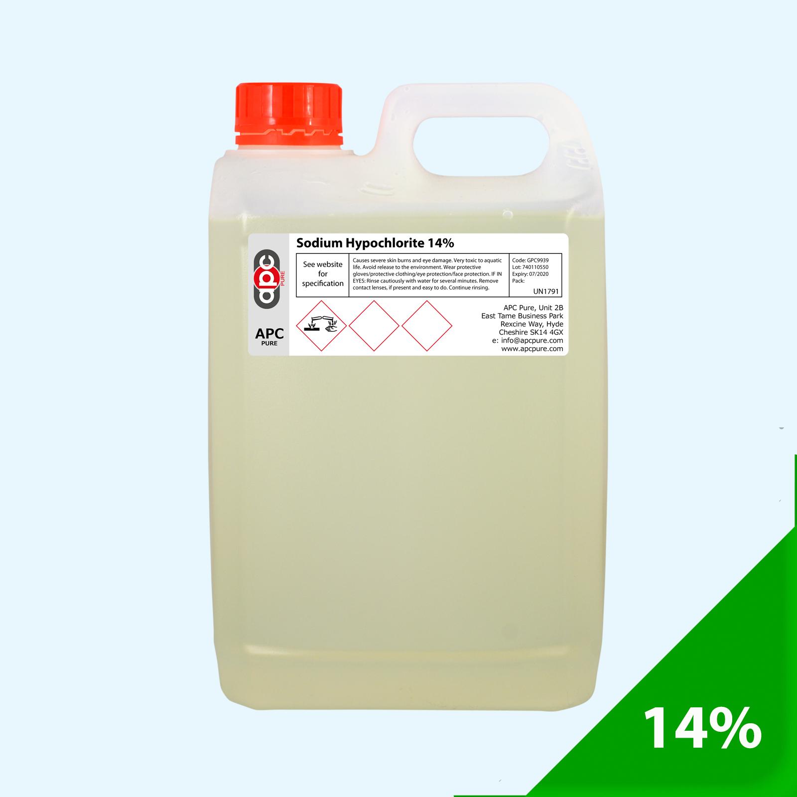 Sodium Hypochlorite 14 15 Liquid Chlorine Swimming Pools