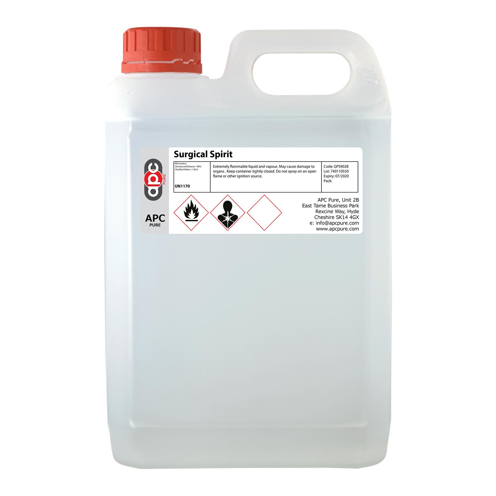 Surgical Spirit Bp Denatured Ethanol 2 5 Litre 2 5l